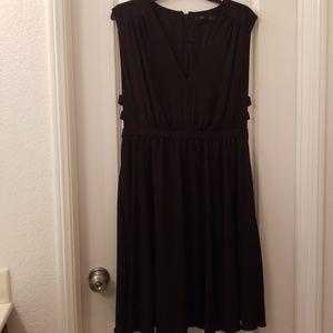 BCBGMAXAZRIA Black V-Neck Dress with Side Cutouts